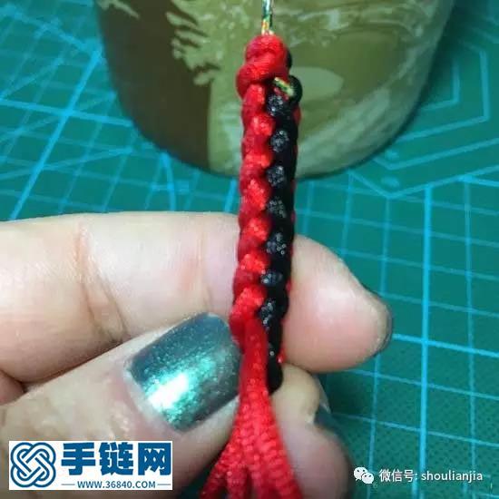 八股辫彩虹手链