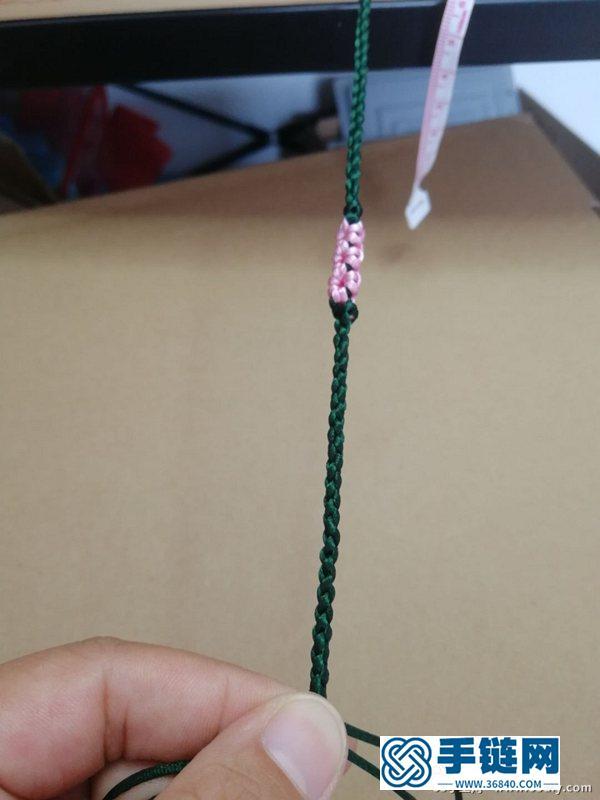 简单漂亮的桃花结手链编法