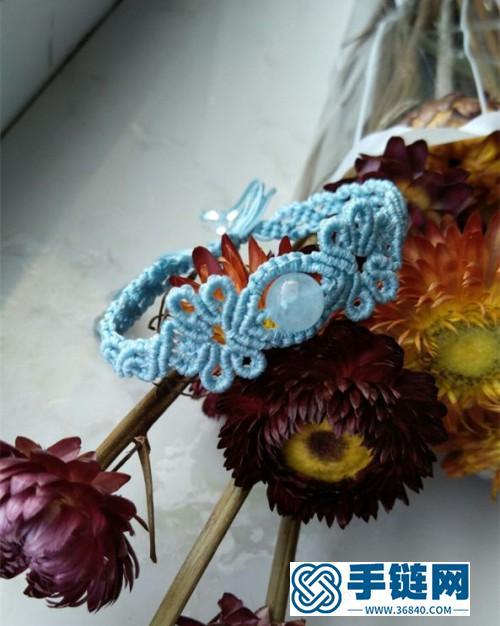 蜡线海蓝宝珠手绳的详细编制方法