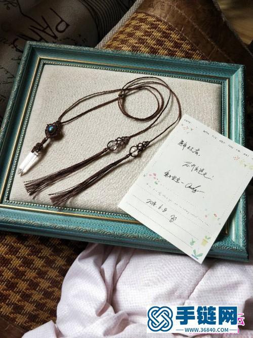 绳编水晶珠包石项链的详细编制教程