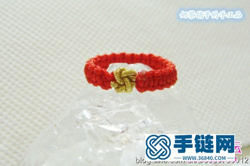 同心结戒指和多彩手链的制作方法