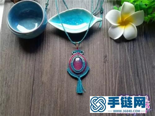 中国结编织包珠吊坠教程(婉柔手作)
