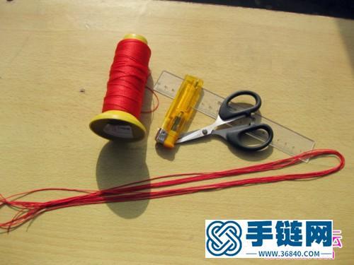 密宗金刚结情定三生奢华版红绳手链制作过程
