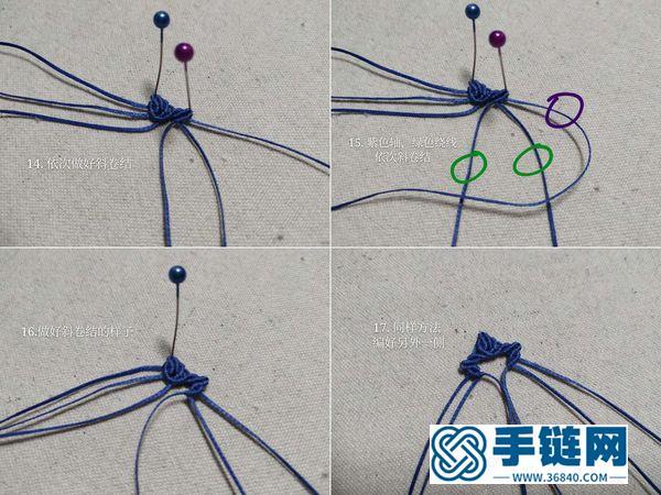macrame编法叶子图解_好看的编绳四叶草耳坠怎么做