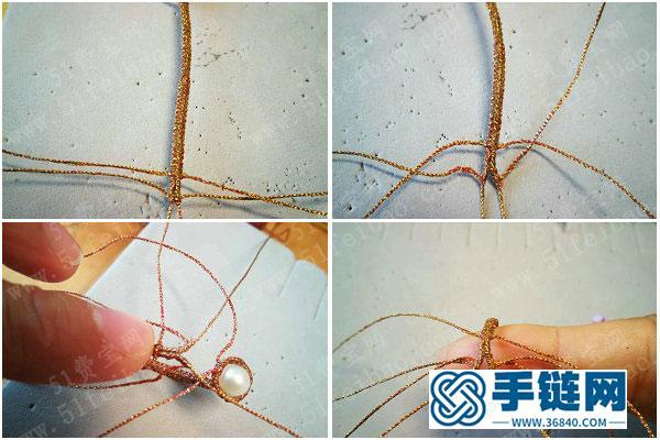 编绳创意_编法个性圆珠戒指图解