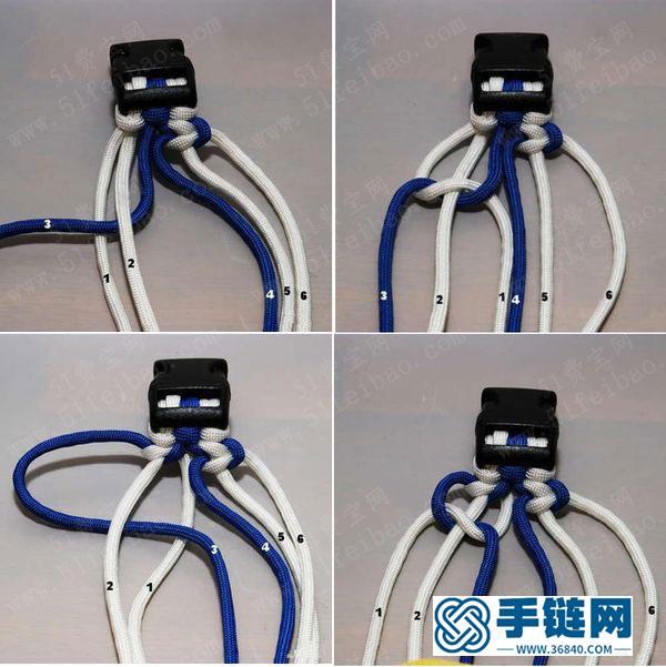 男生手链的编法大全,2款适合男士的diy伞绳手链教程图解