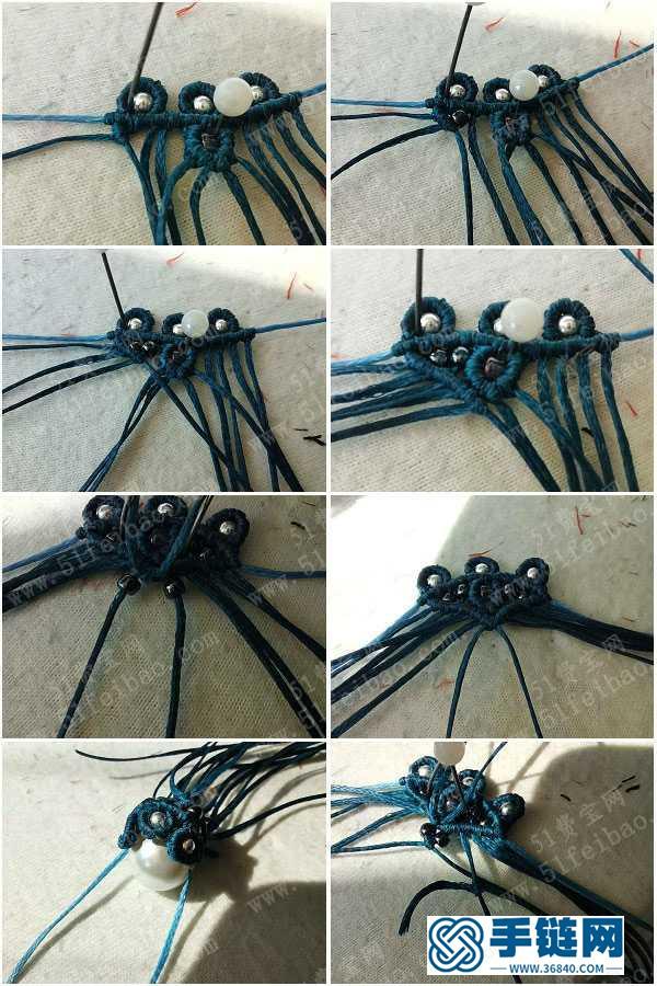 个性编法首饰挂件_蜡线编绳简单款花嫁耳环