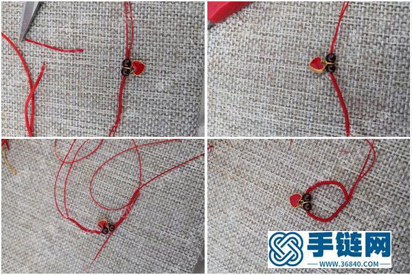 简单的编法饰物_简单DIY红色编绳戒指