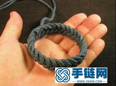 如何用线绳编法痕迹手镯和戒指