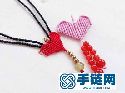 简单教你做红绳爱心项链_几步简单DIY超漂亮编绳项链吊坠