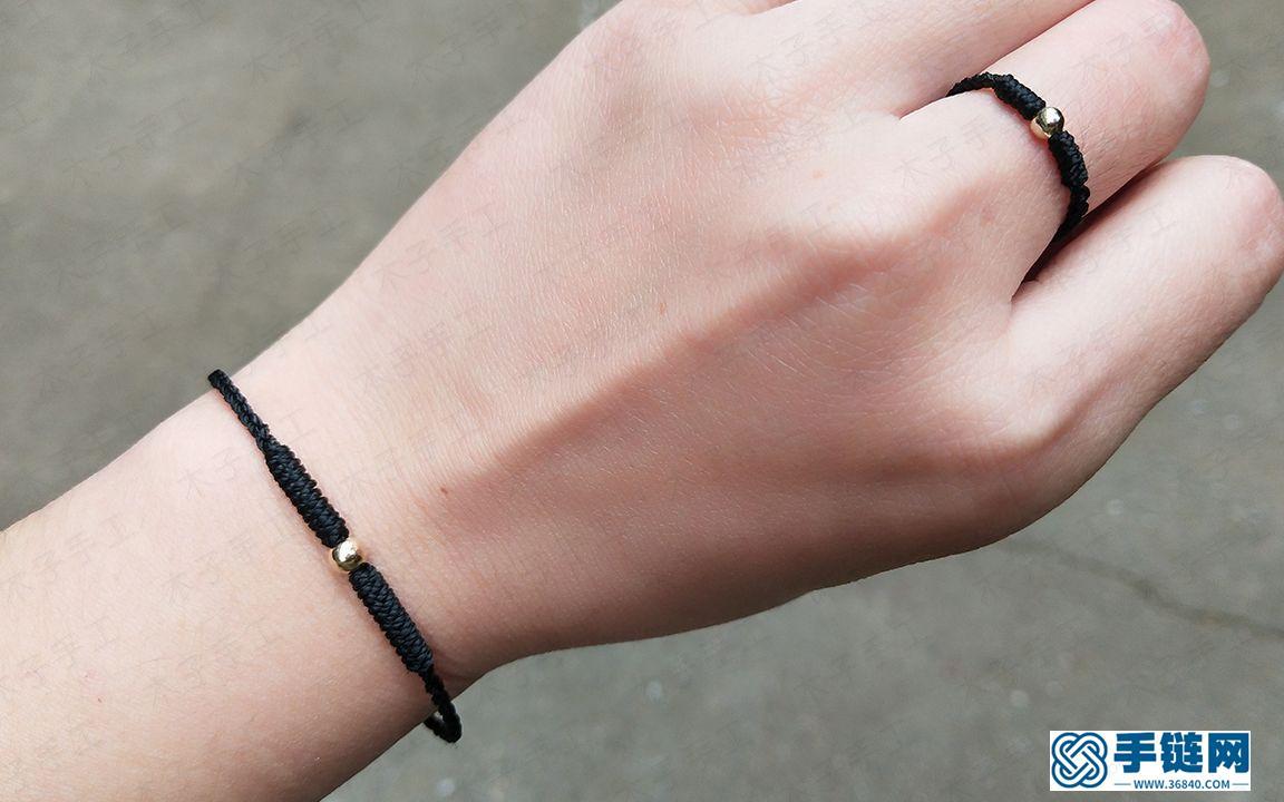 现下最火的一款小金豆手链和戒指,金店都卖爆了,你也来学学编法