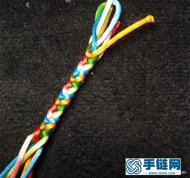 八股辫、八股绳的编法图解