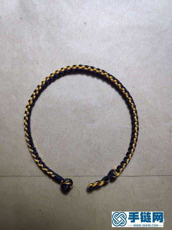 八股小黑手绳的编法