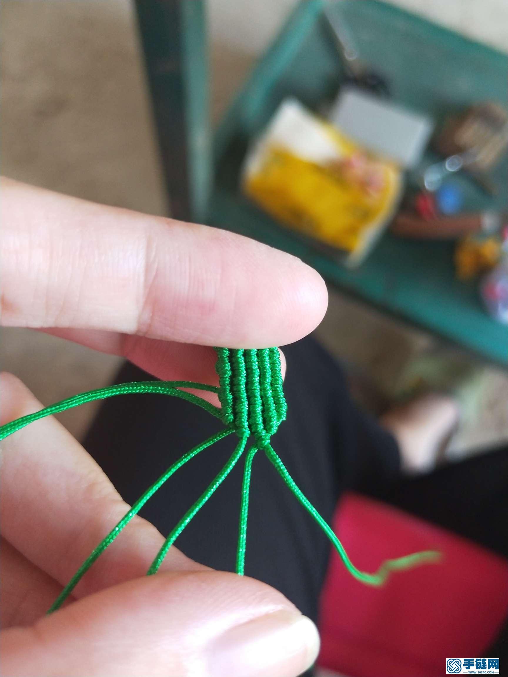 绳编水稻挂件的diy教程