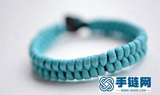 春夏清爽风格的手链编织方法图解