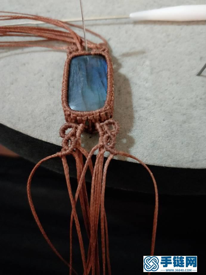 长方形拉长石手链