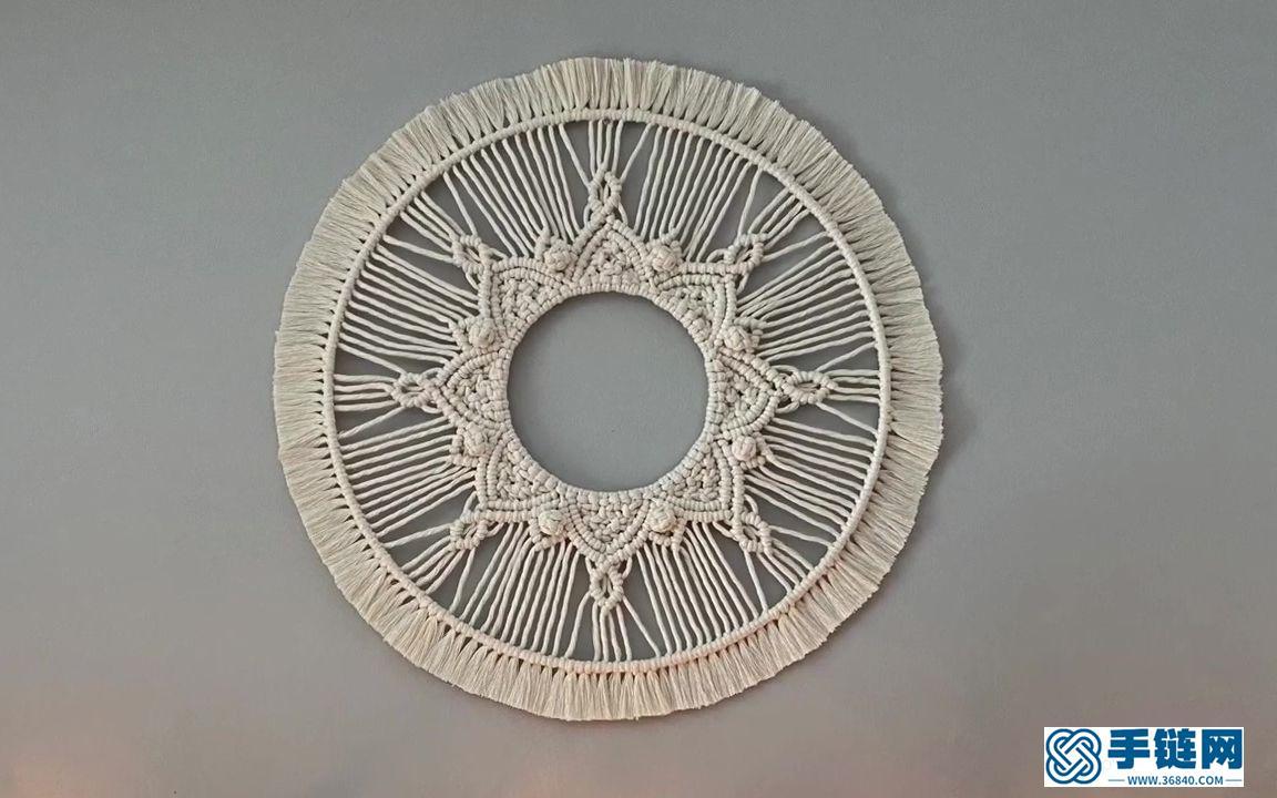 Macrame手工编织简单圆形曼陀罗壁挂装饰