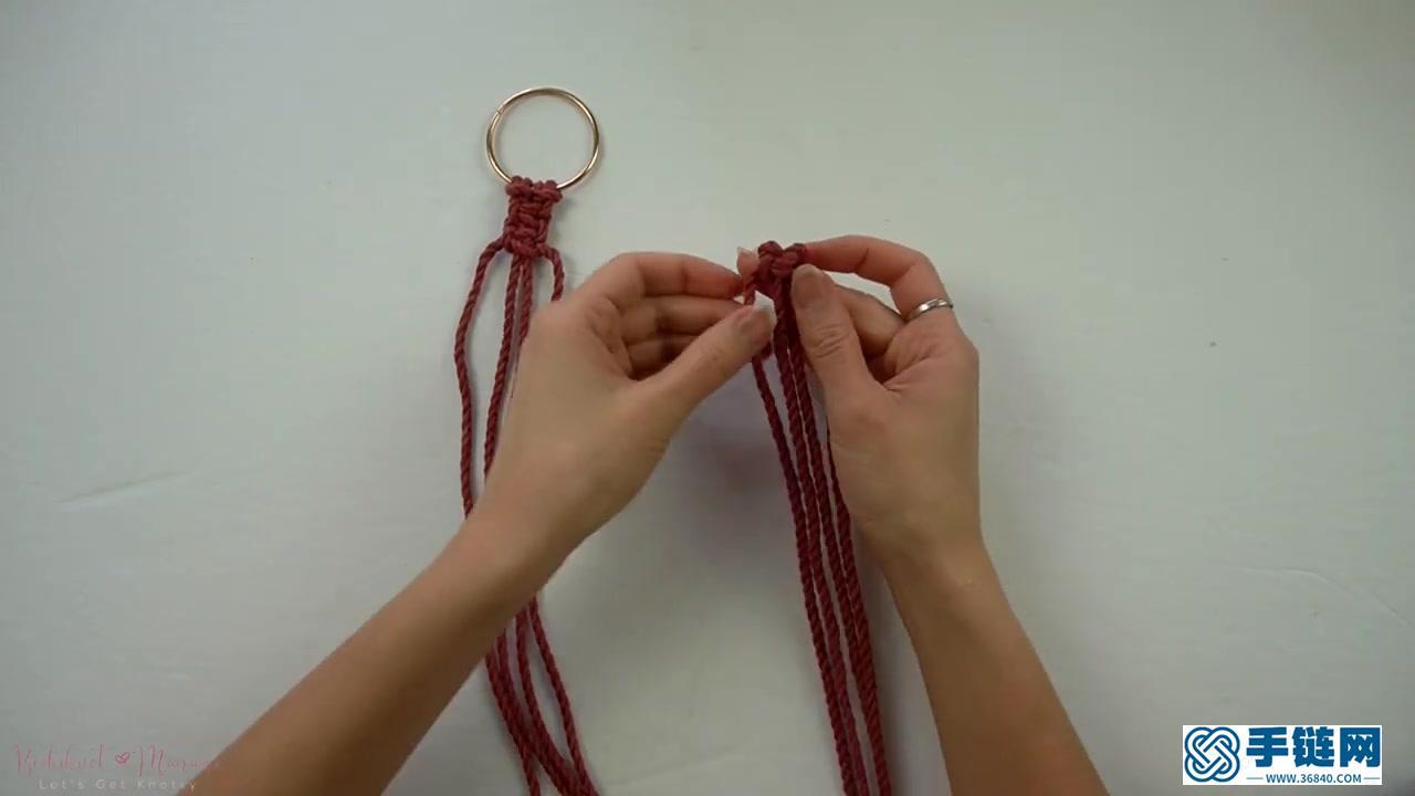 Macrame编织盆栽植物吊篮挂兜