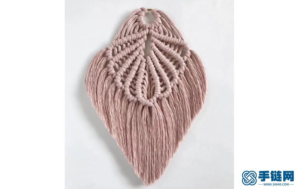 Macrame编织美丽流苏贝壳花样小挂饰