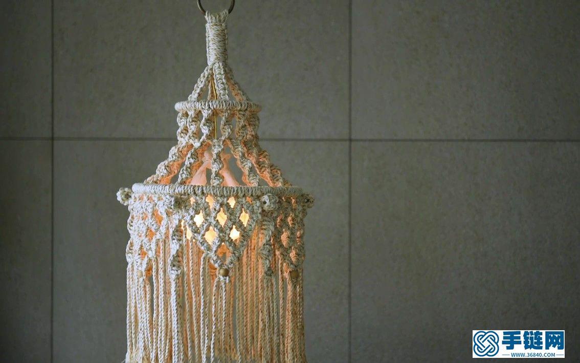 Macrame编织波西米亚吊灯灯罩装饰