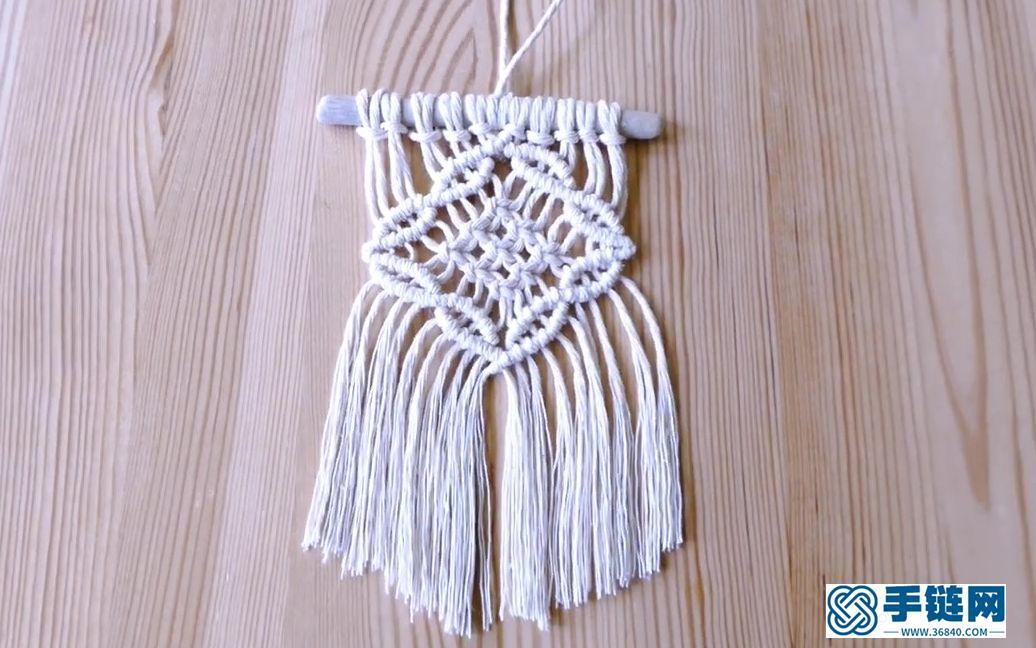 Macrame编织花形设计元素小样-mini挂毯