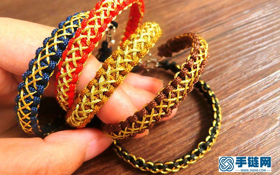 【学编绳】青丝系列平结款,把头发藏在手链里。