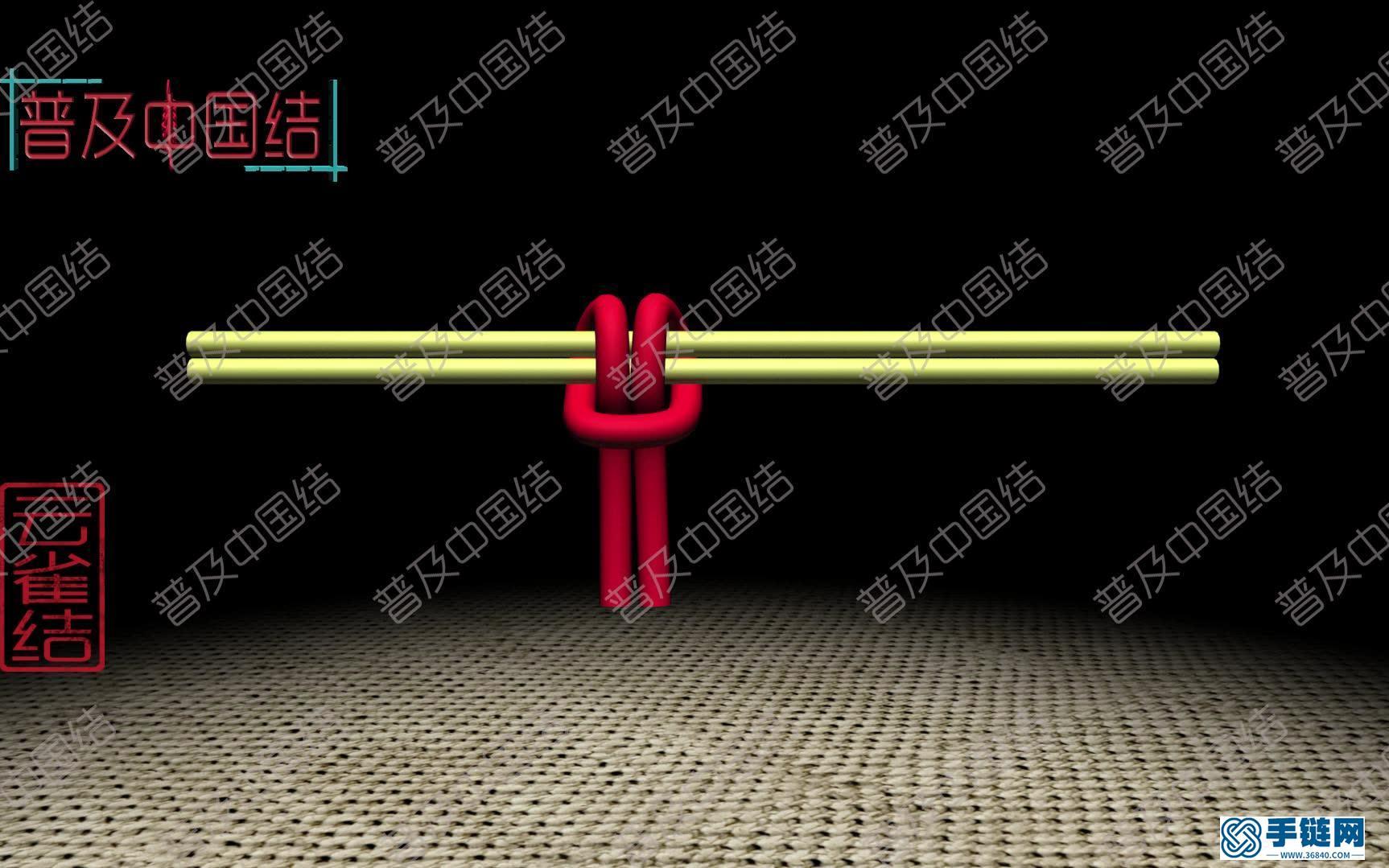 ——云雀结(3d动画)桃花结,壁挂,挂线等手工必修技艺。