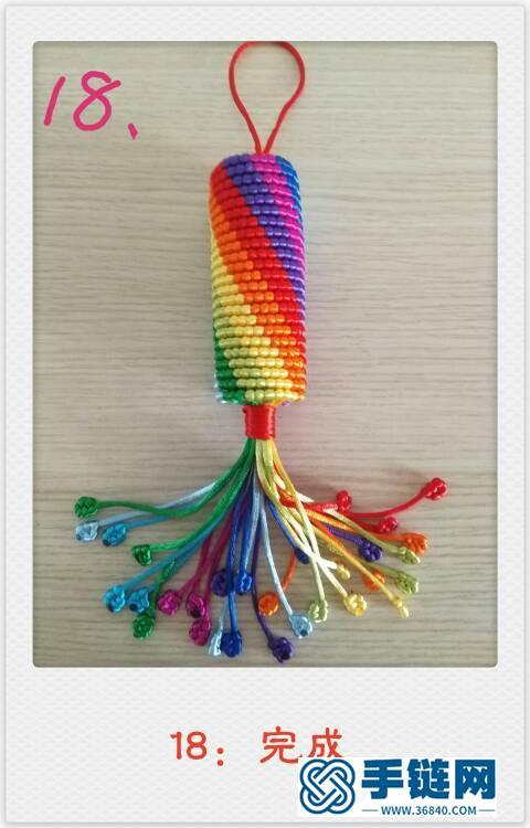 十色彩虹转经简——图文并茂,最清晰,最详细,最易懂!编绳教程-完整编法步骤
