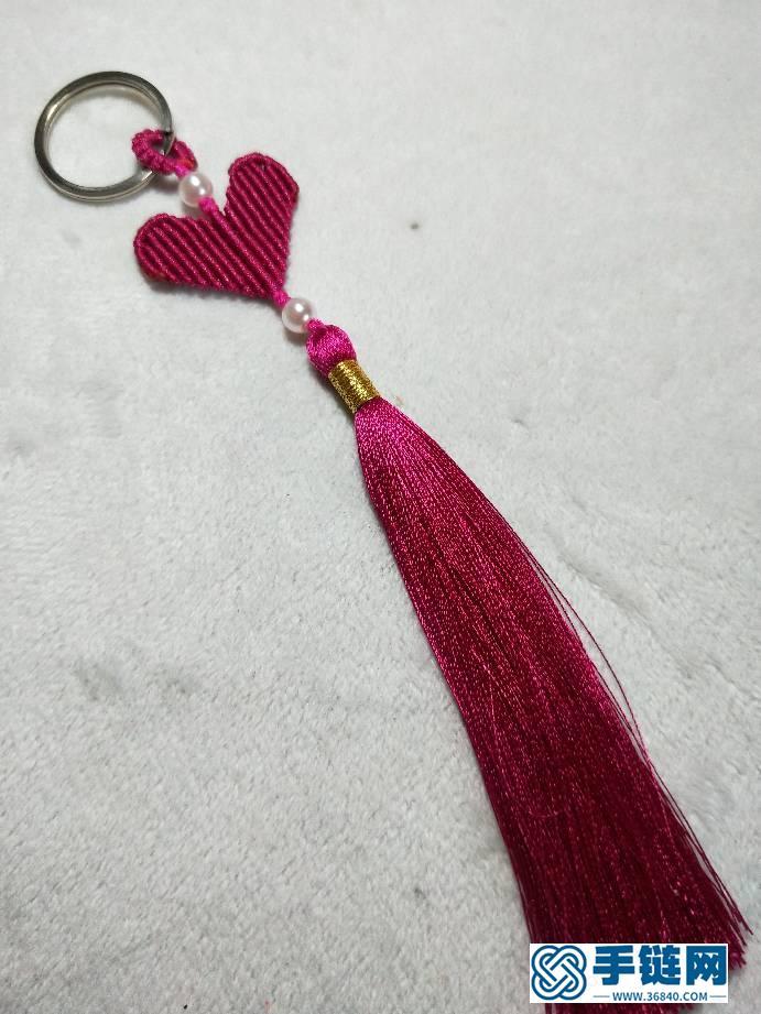 爱心包包小挂饰编绳教程-完整编法步骤