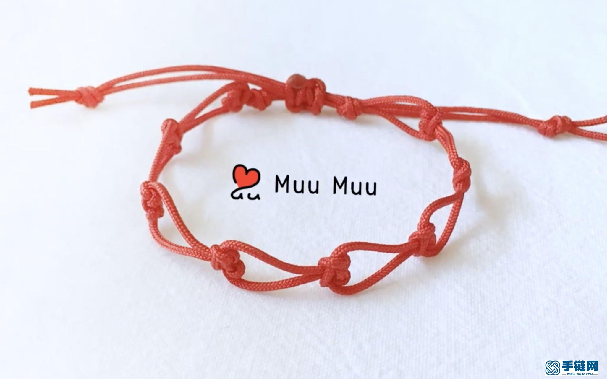 像不像连续的爱心_做法其实很简单!很有特色的一款手环_很适合平时佩戴的手环!