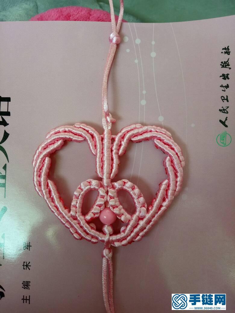 心形中国结编绳教程-完整编法步骤