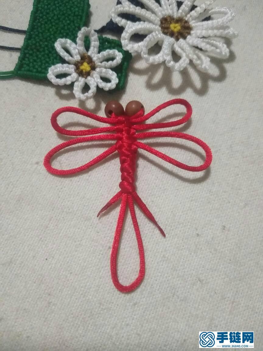 【书签】蜻蜓书签编绳教程-完整编法步骤