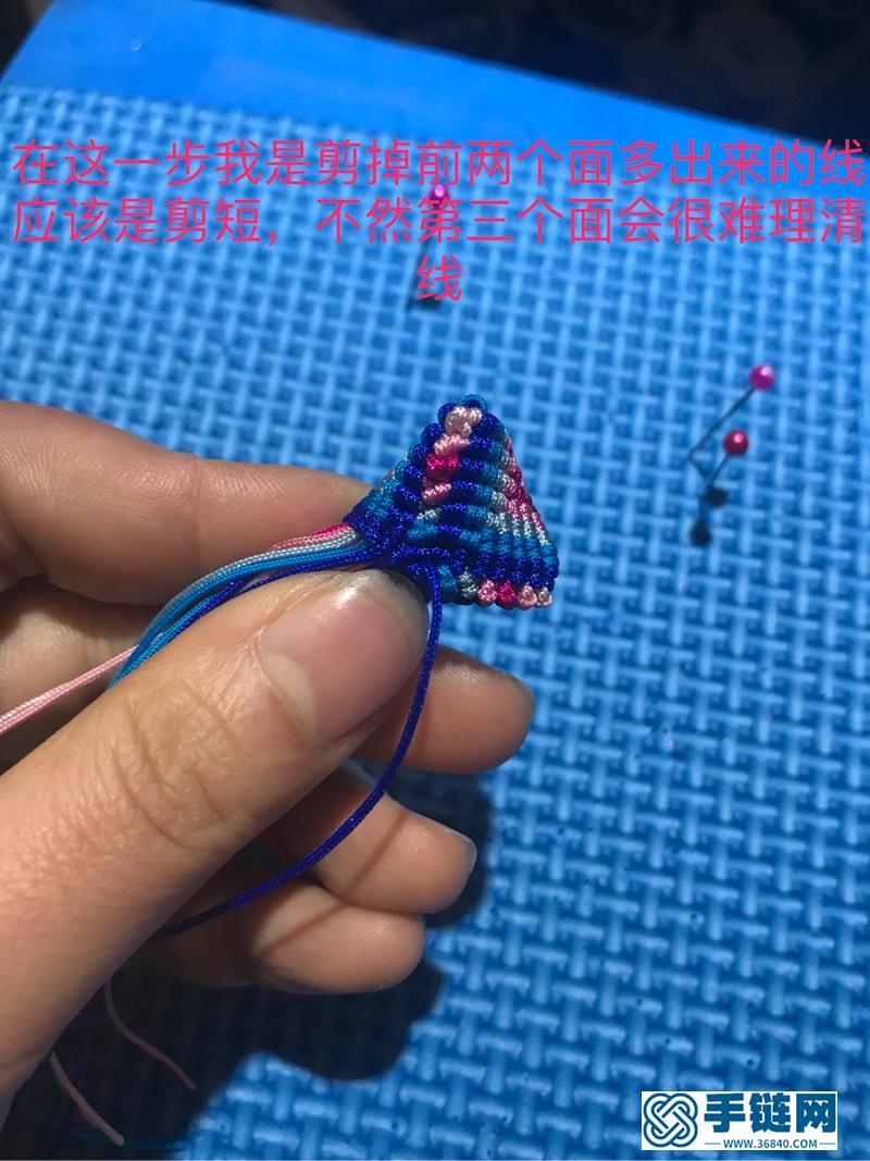 三角粽子教程编绳教程-完整编法步骤