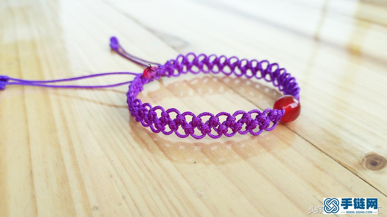 蕾丝红绳手链详细编织步骤,新手学习做手绳入门教程