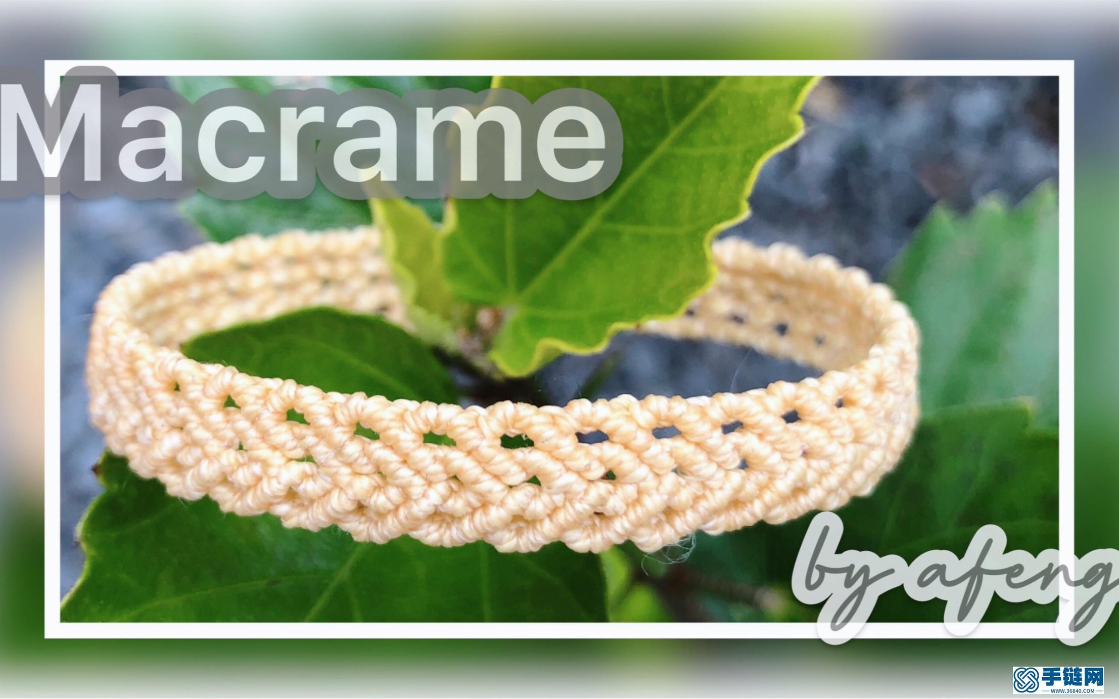 Macrame视频教程 手链8股绳编法
