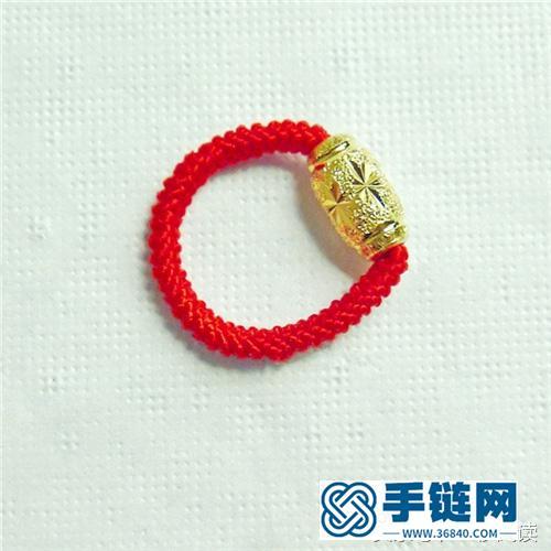 转运珠戒指编法图解教程,教你用红绳简单编出戒指的方法