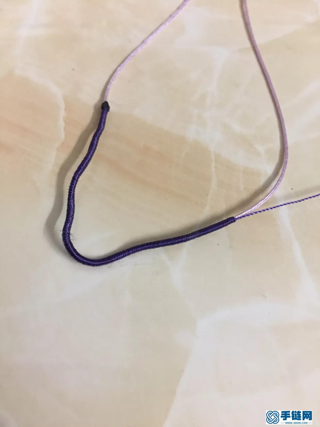 四股辫项链的编法,简单红绳项链教程图解