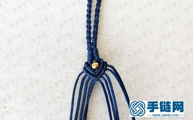 项链绳尾扣的编法图解,玛瑙珠项链编织教程