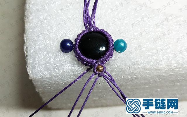 漂亮的闺蜜款包石手链编法,教你六根绳子编手链图解