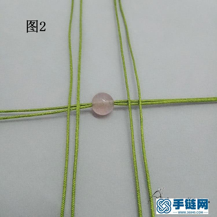 手工编绳手链教程,个性假面狐狸造型手绳做法