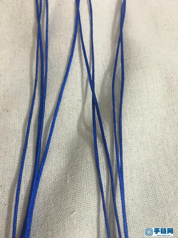曼陀罗结手链编法图解,DIY手工6瓣花的打法