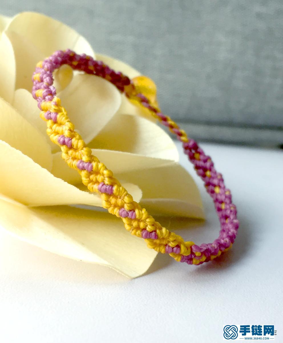 双色手链编织教程