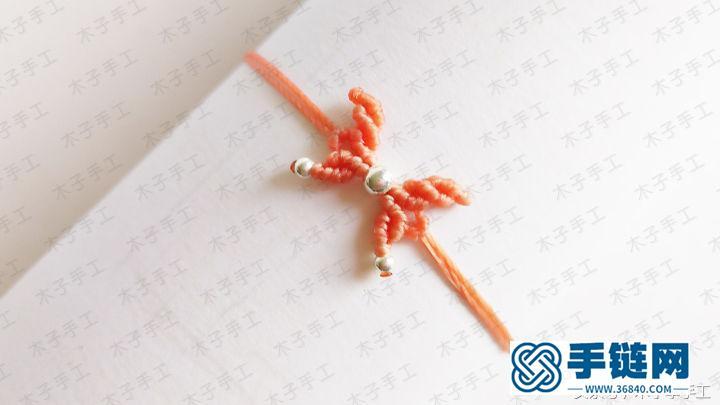 蝴蝶手链的编织教程和图解