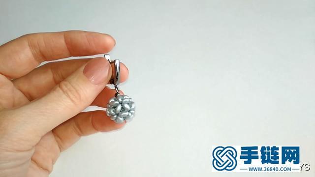 手工饰品教程,带你学习如何制作圆球耳环吊坠
