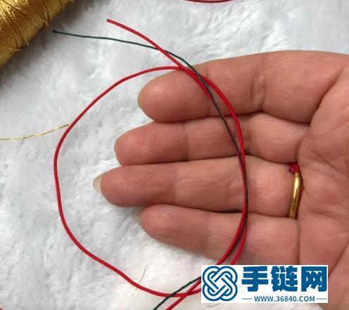 「教你编绳」平结圈与绕线圈的编制方法,吊坠与手链常用之结