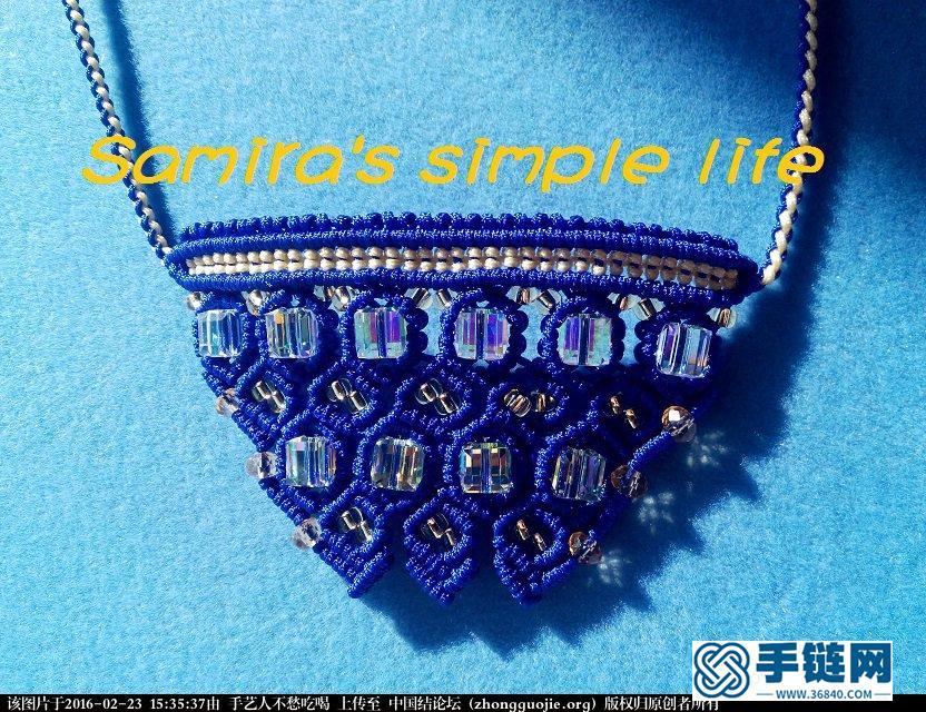 一款带有珠宝气质的绳编项链-新手原创
