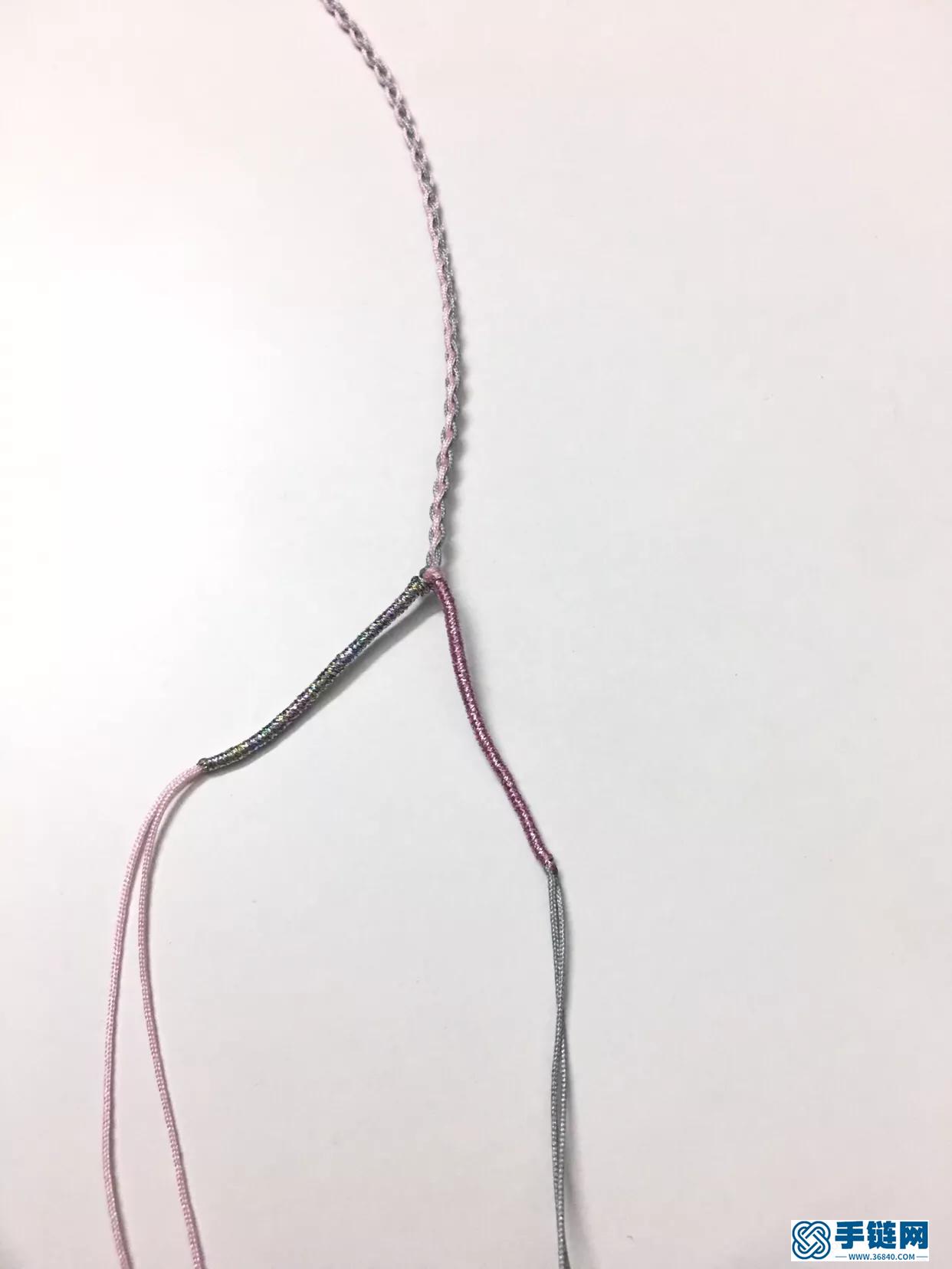 月光石同心结编绳项链做法步骤