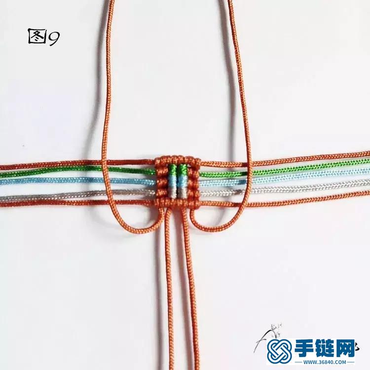 单珠手链编法,雮尘珠之瞳手绳简单编织教程