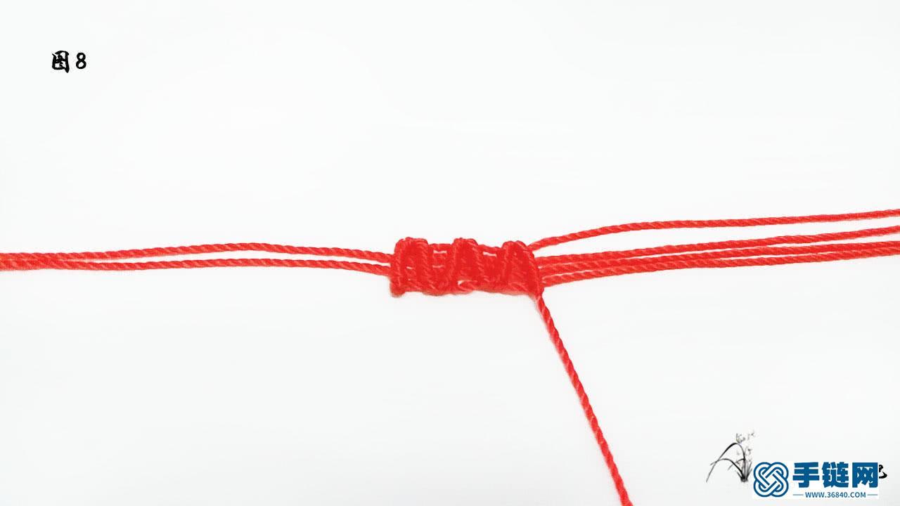 简单好看的编绳波浪手链教程
