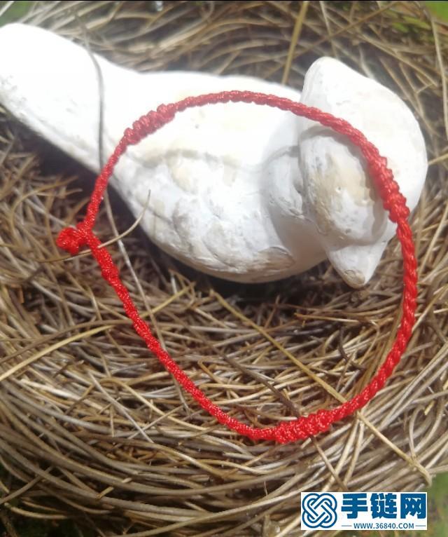 简单好看的金刚结红绳编法图解